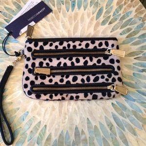REBECCA MINKOFF - Dalmatian Calf Hair Wristlet